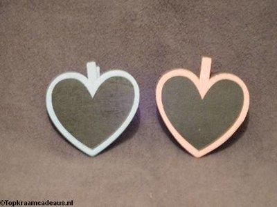 Hartvormige krijtbordjes